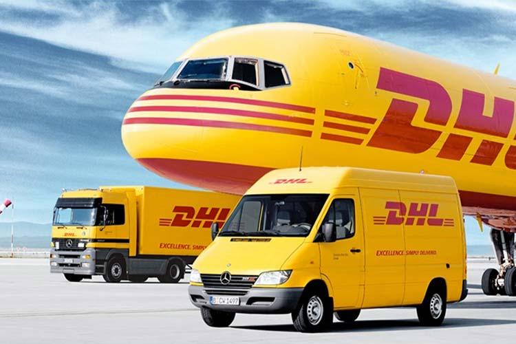 ارسال مرسوله پستی توسط کمپانی DHL یه صورت زمینی و هوایی